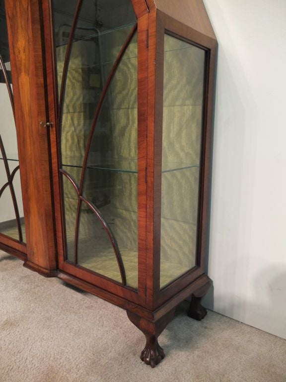 Mahogany Art Deco Display Cabinet or Vitrine For Sale