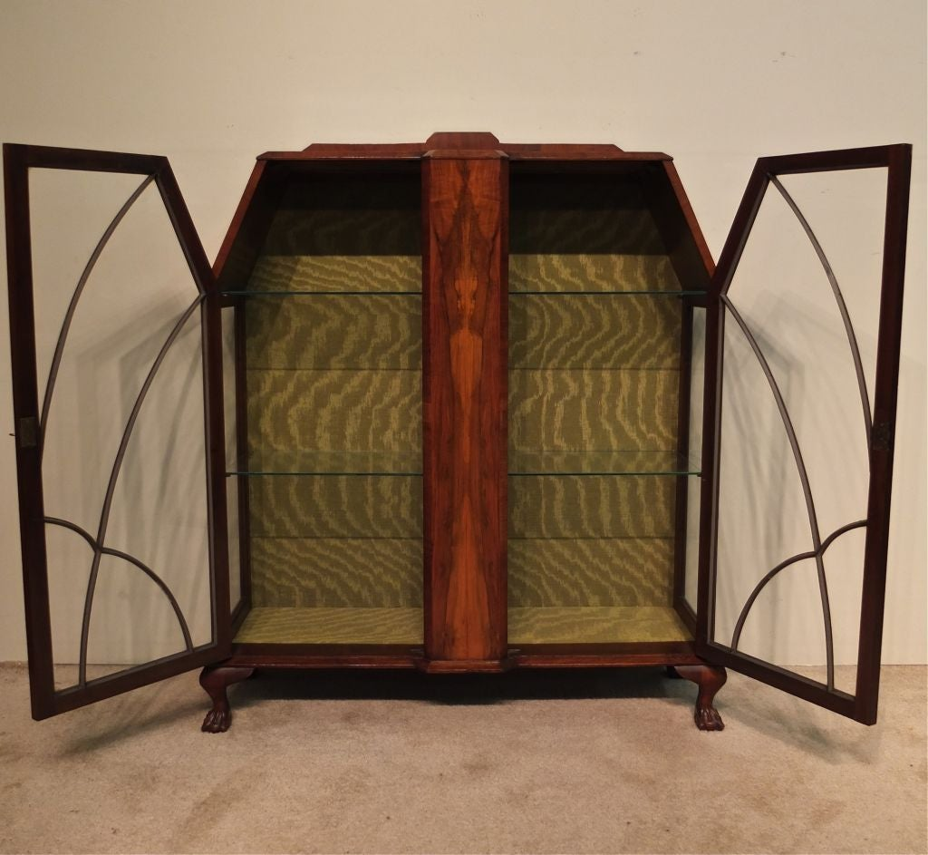 Art Deco Display Cabinet or Vitrine For Sale 1