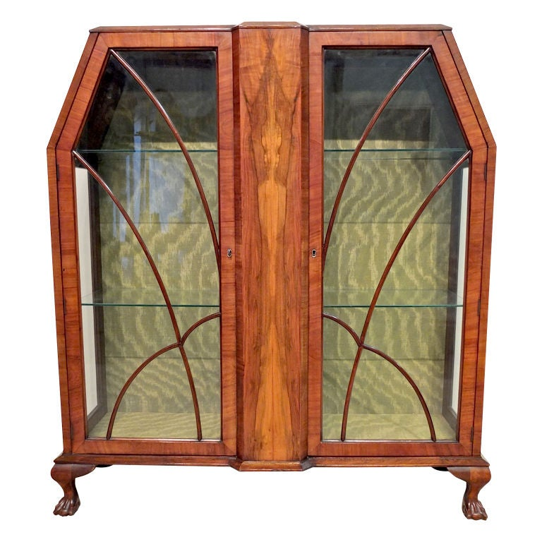 Art deco display cabinet or vitrine for sale at 1stdibs for Sideboard vitrine