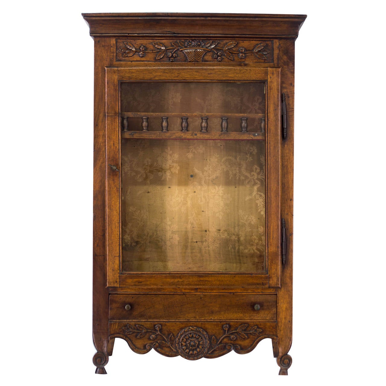 18th Century French Louis XV Verrio or Display Cabinet For Sale