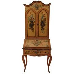 Painted Venetian Secretary or Desk