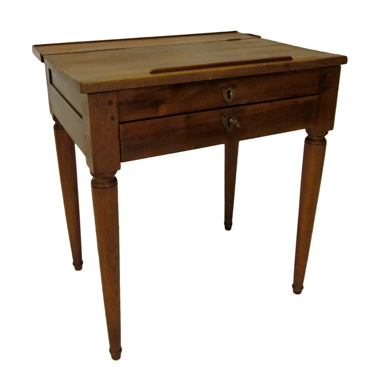 French Country Walnut Desk at 1stdibs