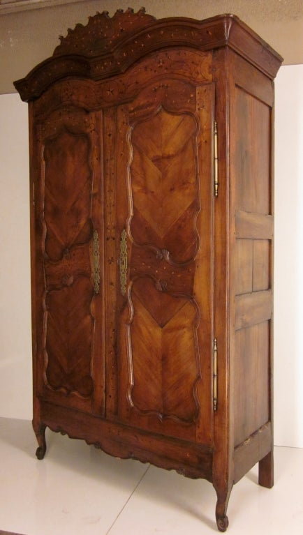 french country louis xv armoire at 1stdibs. Black Bedroom Furniture Sets. Home Design Ideas