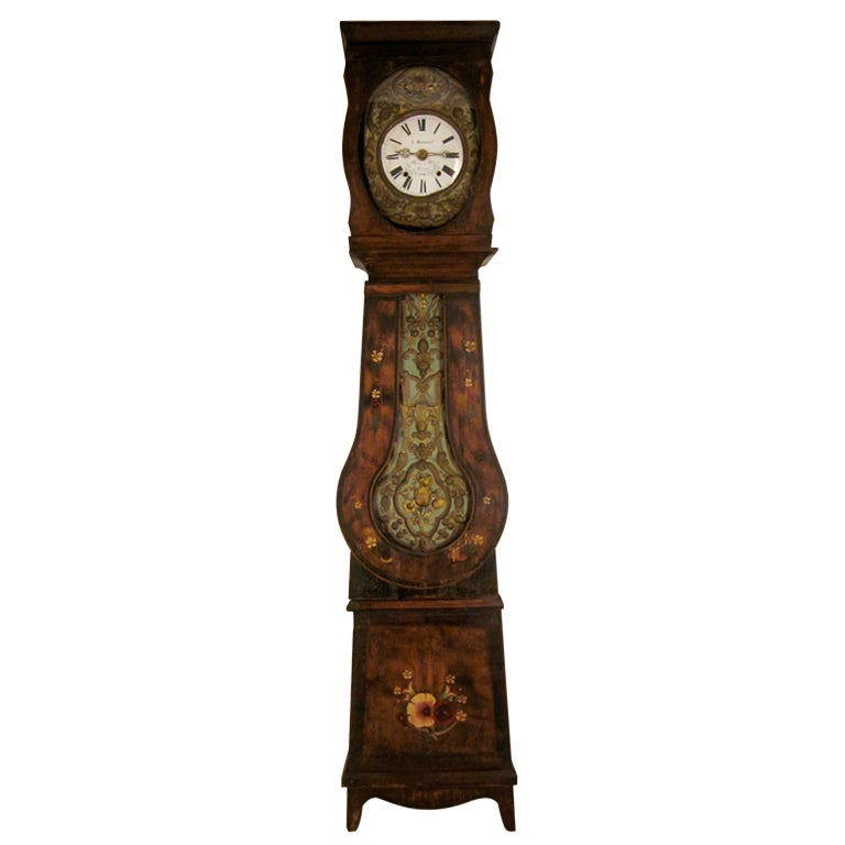 French Country Grandfather Clock or Comtoise at 1stdibs