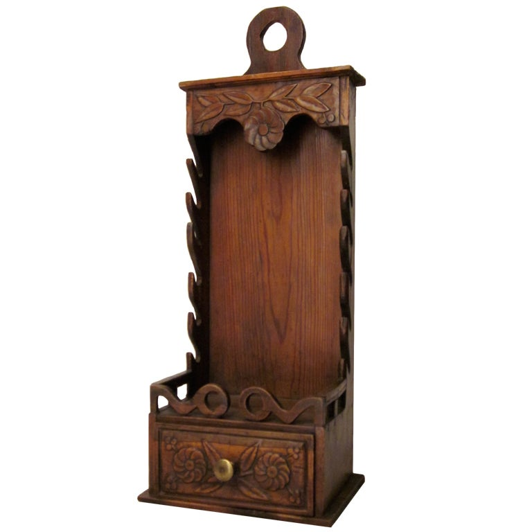 French provencal walnut porte couteaux or knife box at 1stdibs for Porte french