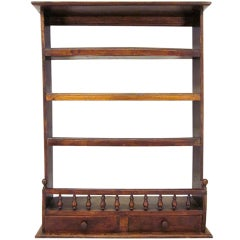 French Walnut Hanging Shelf