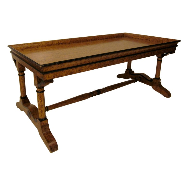 20th C French Charles X Style Faux Painted Coffee Table At 1stdibs