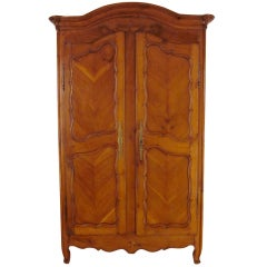 19th c. French Louis XV Style Cherry Armoire