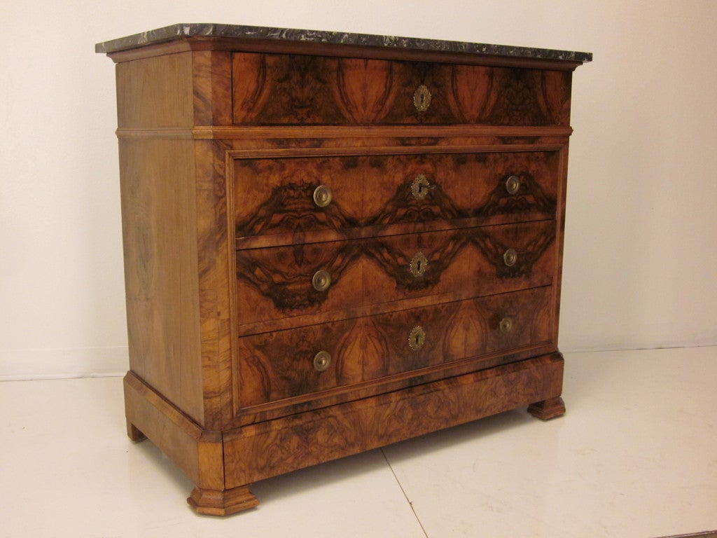 louis philippe secretaire and commode or chest of drawers at 1stdibs
