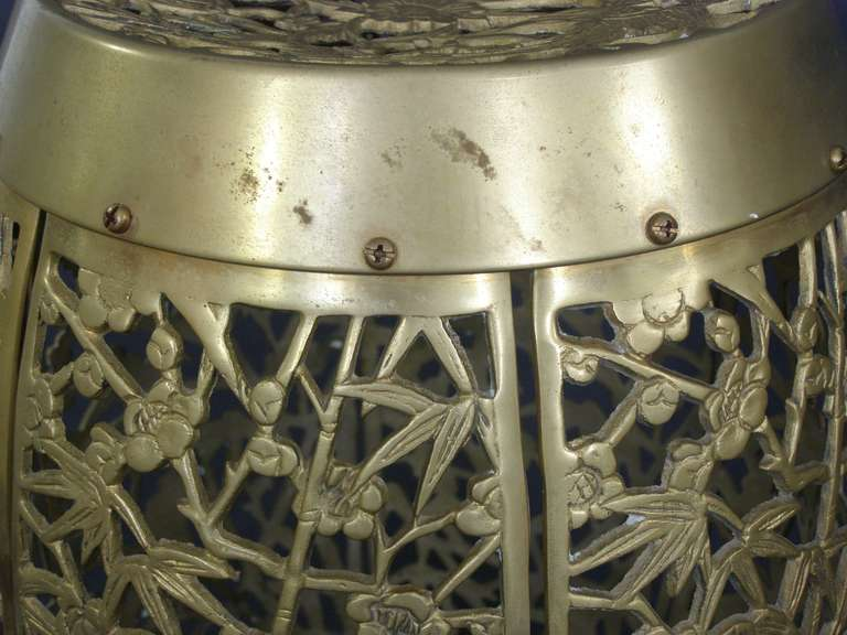 Chinese Style Solid Brass Garden Stool Seat Or Table At