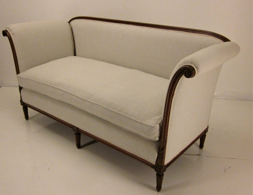 louis xvi style canap or sofa at 1stdibs. Black Bedroom Furniture Sets. Home Design Ideas