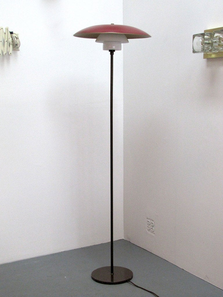 poul henningsen floor lamp at 1stdibs. Black Bedroom Furniture Sets. Home Design Ideas