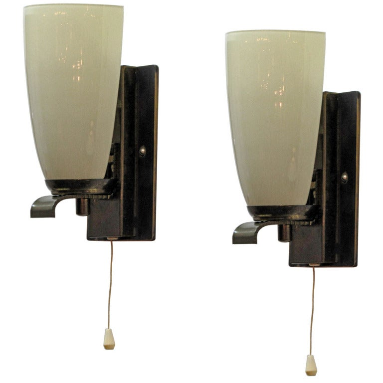 Art Deco Wall Lights : German art deco wall lights at stdibs