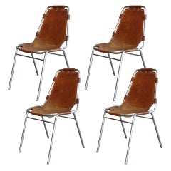 """Set of 4 Charlotte Perriand """"Les Arc"""" Chairs"""