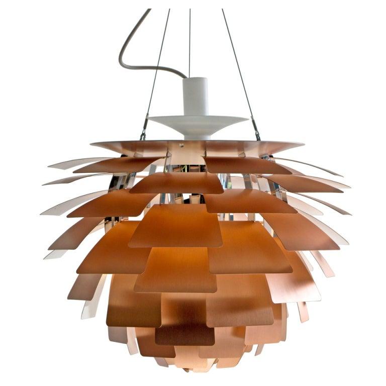 Red Artichoke Chandelier: PH Artichoke Copper Lamp By Poul Henningsen At 1stdibs