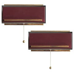 Pair of French Bedside Wall Lamps