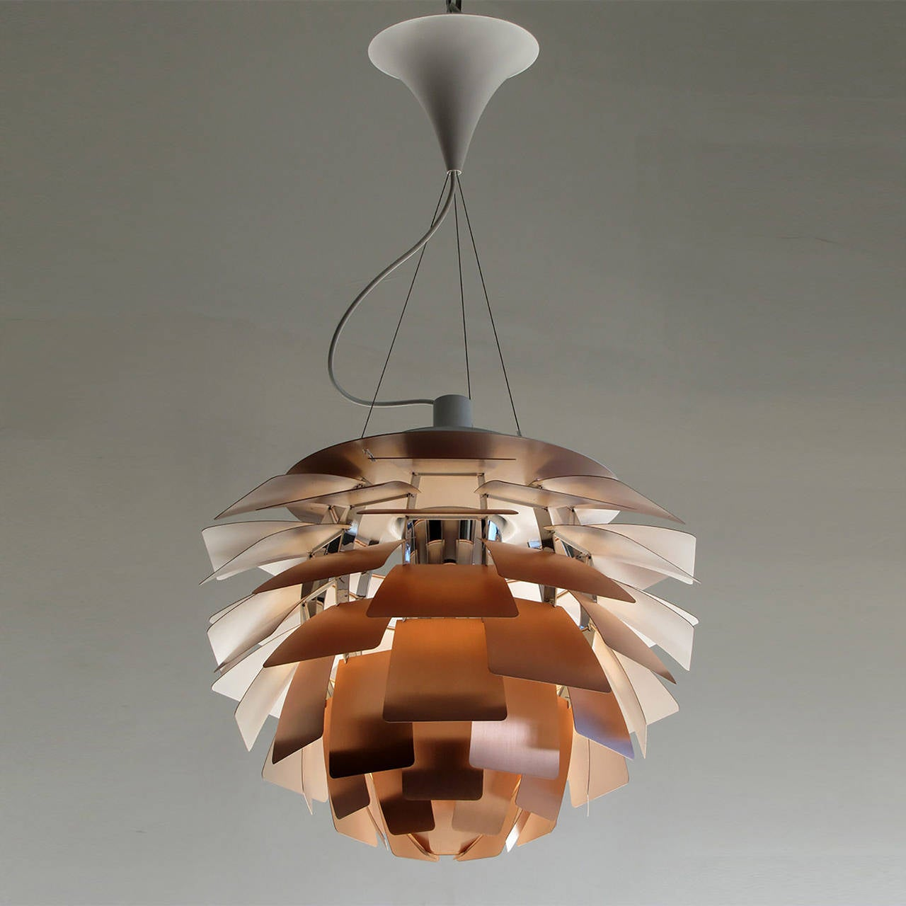 ph artichoke copper lamp by poul henningsen at 1stdibs. Black Bedroom Furniture Sets. Home Design Ideas