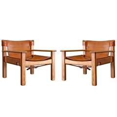 Bernt Petersen Leather Lounge Chairs