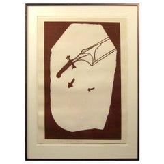Joseph Beuys Silkscreen in Brown Ink, 'Elch in der Strömung'