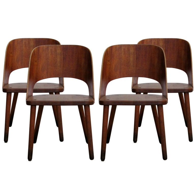 Set of Four Danish Teak Chairs at 1stdibs