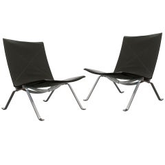 Pair of Poul Kjaerholm PK22 Chairs