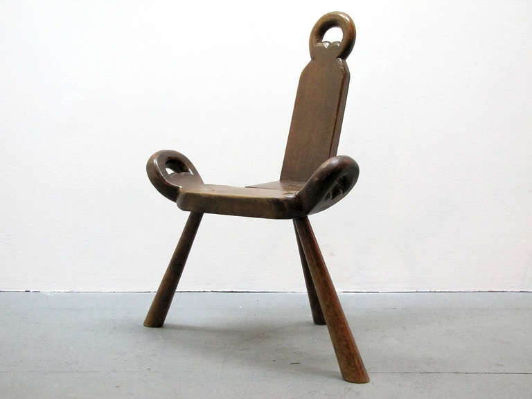 Pair Of Swedish Three Legged Chairs At 1stdibs
