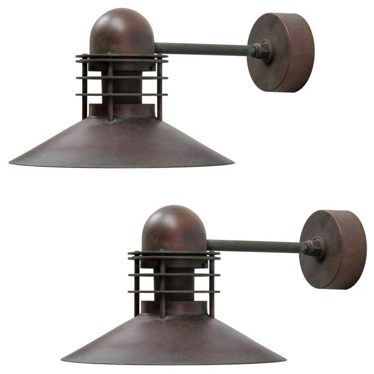 Louis poulsen copper outdoor lamps at 1stdibs louis poulsen copper outdoor lamps 1 arubaitofo Choice Image