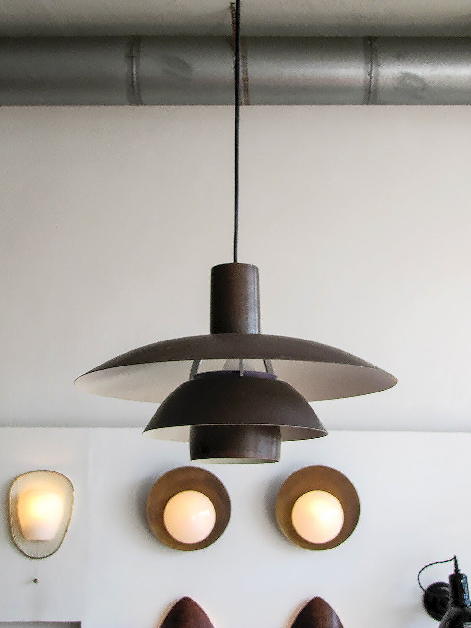 Poul Henningsen Ph 4 189 4 Copper Pendant At 1stdibs