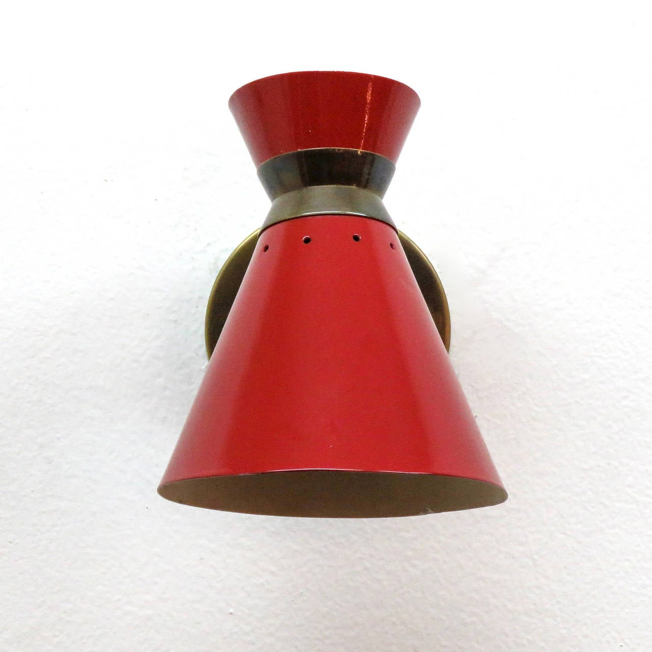 Pair of French Double Cone Wall Lights 2