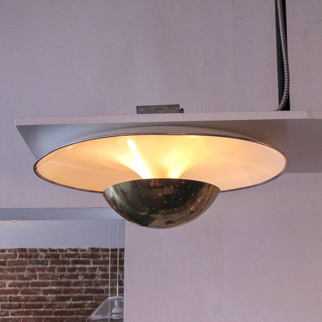 Aluminum Gino Sarfatti Flush Mount Light