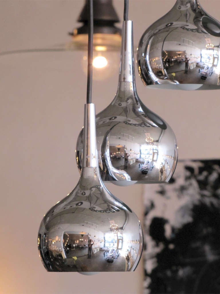Ten-Tier German Chrome Cascading Chandelier In Excellent Condition For Sale In Los Angeles, CA