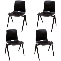 Set of Four Industrial Chairs