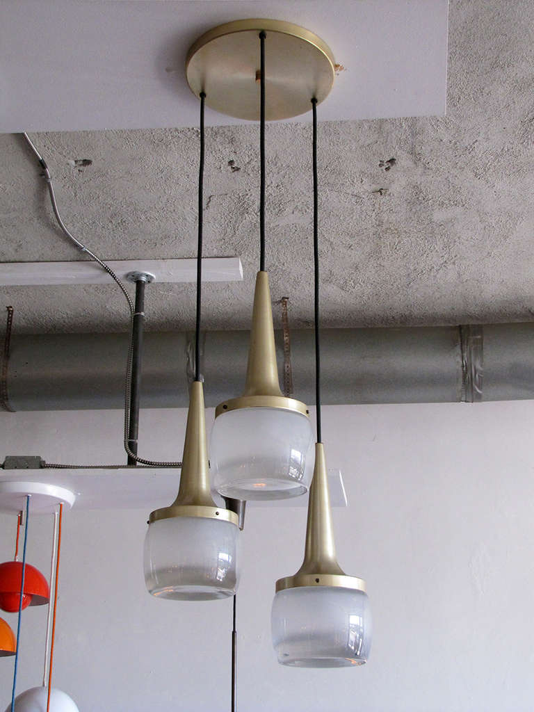 Set Of Three Large Staff Pendant Lights At 1stdibs