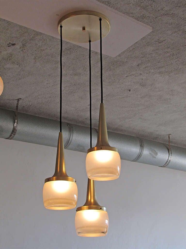 Set Of Three Large Staff Pendant Lights At 1stdibs