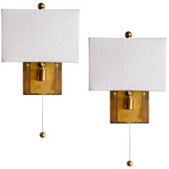 German Swing Arm Wall Lamps