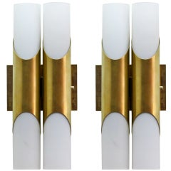 Pair of German Double Wall Lights