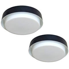 Pair of Staff Flush Mount Lights
