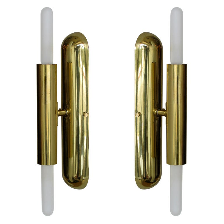 Double Candle Wall Sconces : German Double Candle Sconces at 1stdibs