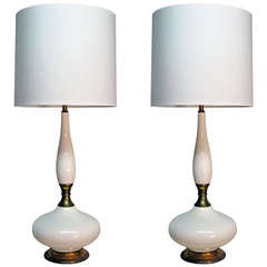 Pair of Tall Ceramic Table Lamps