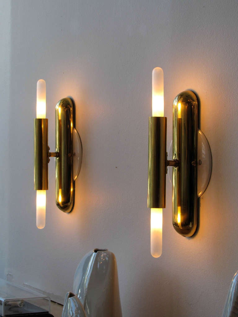German Double Candle Sconces at 1stdibs