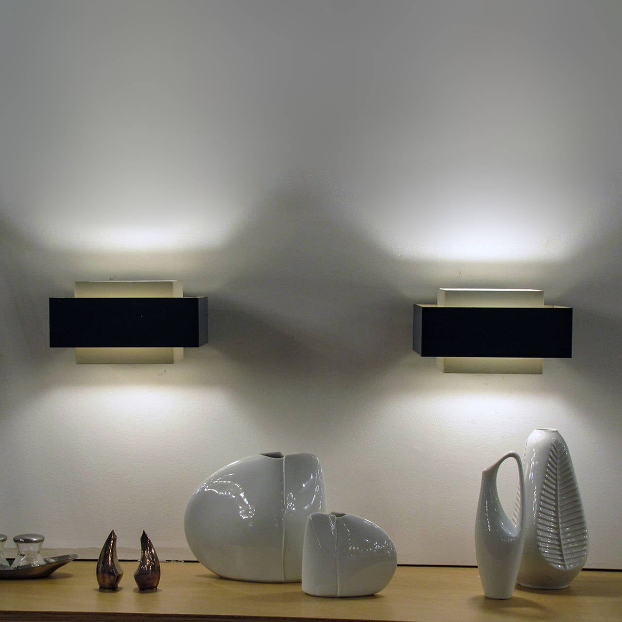 Philips Wall Lights Catalogue : Pair of Philips Wall Lights at 1stdibs