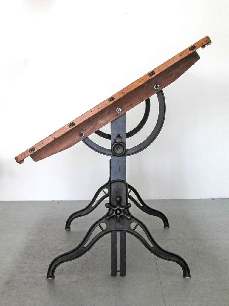 Industrial Drafting Table At 1stdibs