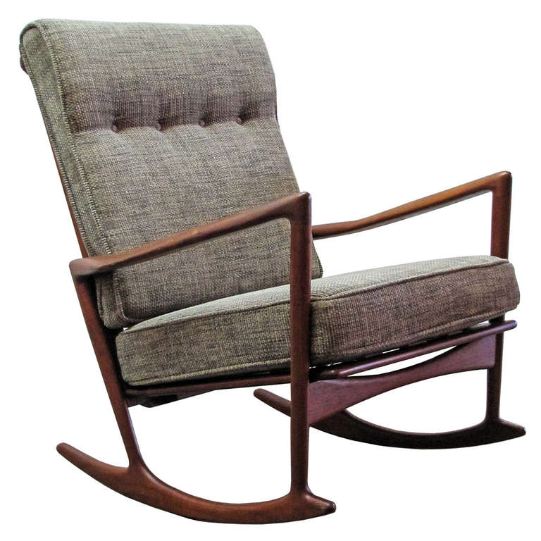 Single Rocking Chair by Ib Kofod-Larson for Selig, circa 1955 Made in ...
