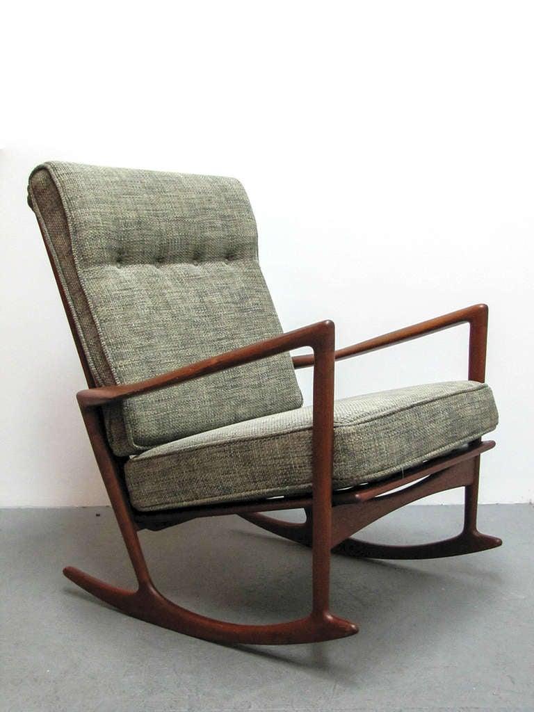 Ib Kofod Larsen Rocking Chair At 1stdibs