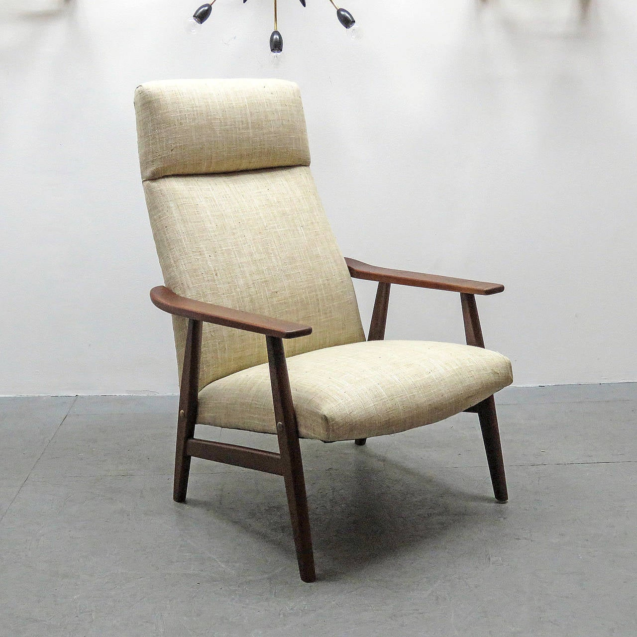 Pair Of Danish High Back Lounge Chairs At 1stdibs