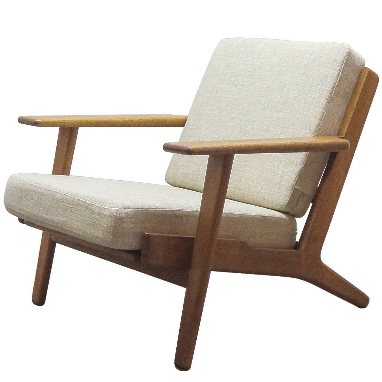 hans j wegner ge 290 lounge chair at 1stdibs. Black Bedroom Furniture Sets. Home Design Ideas
