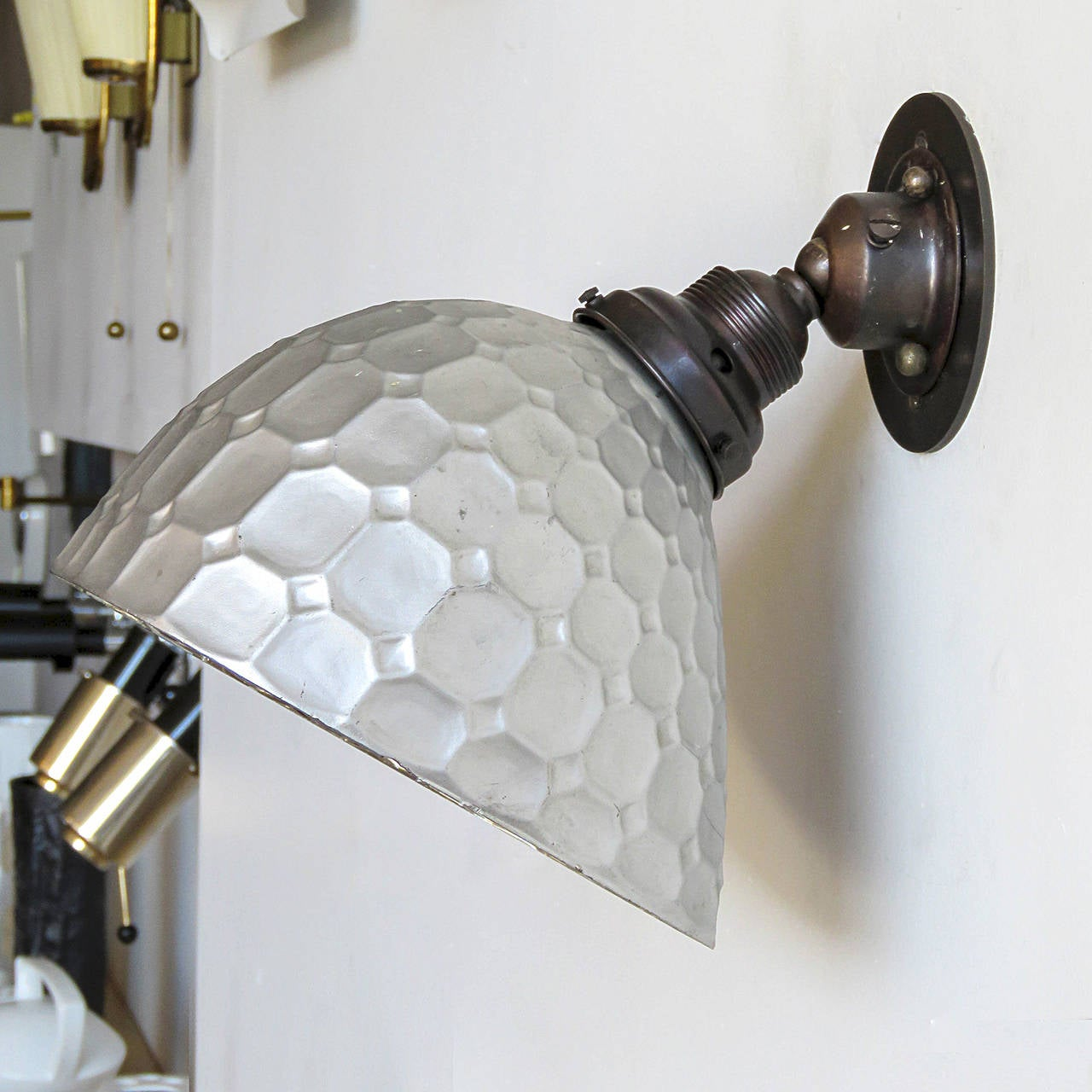 Mercury Glass Wall Lights : German Mercury Glass Wall Light by Reha For Sale at 1stdibs