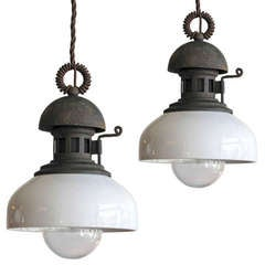 Pair of Italian Industrial Pendants Type A