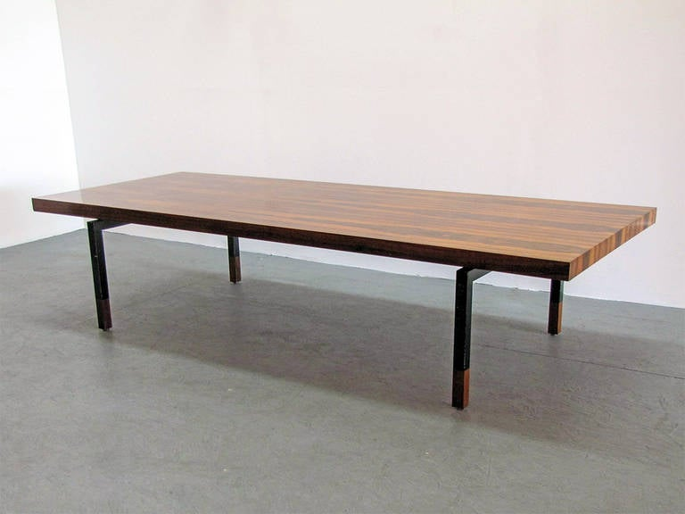 Danish Rosewood And Steel Coffee Table 2