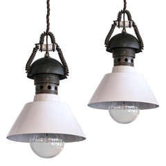 Pair of Italian Industrial Pendants Type B
